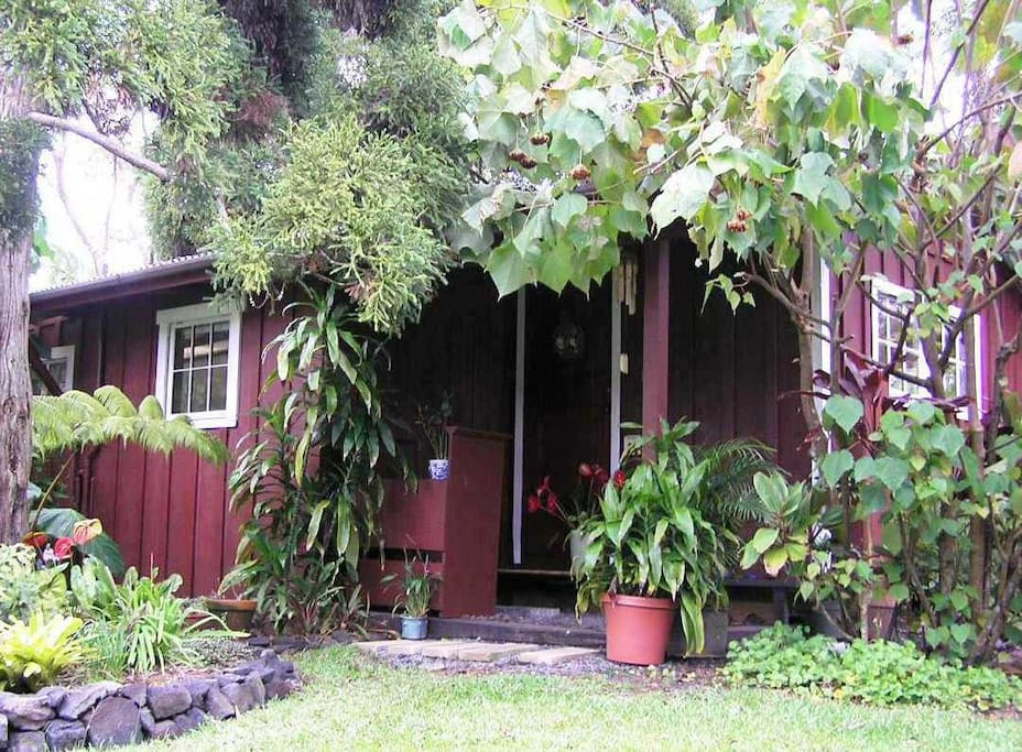Volcano Artist Cottage is a restored redwood residence that used to house the groundskeeper.