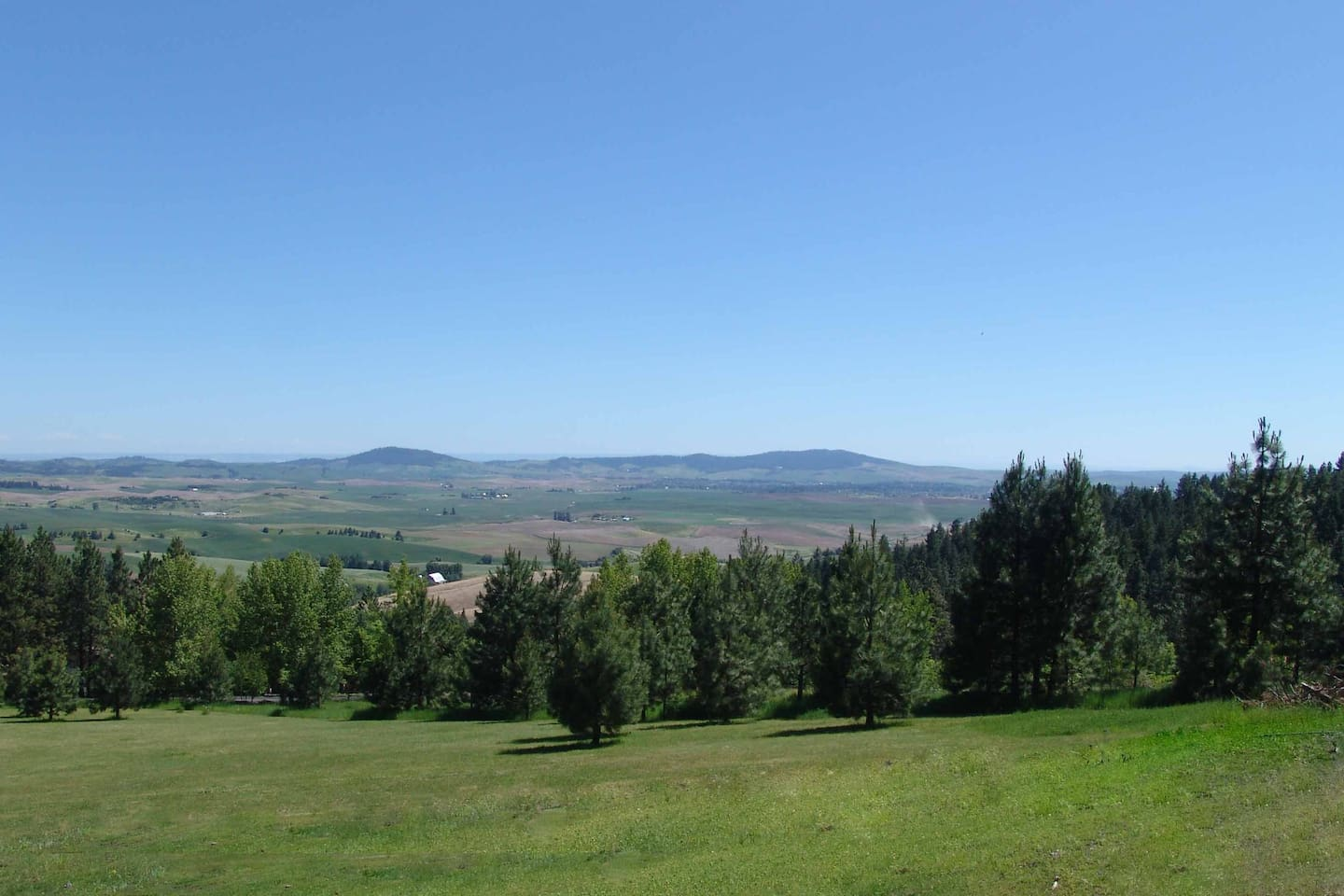 A summer view from your private deck with the king suite.  On a clear day you can see 120 miles.
