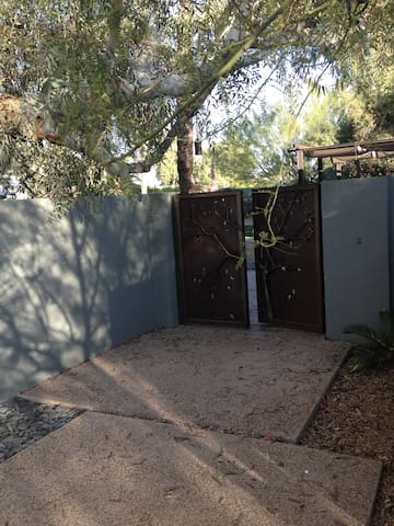 Front Entry gate from the driveway into property
