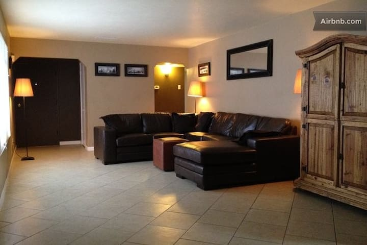 We fill up quickly, so reserve it now if it's showing available!  Spacious and comfortable living room with new tile floors. (shared-space)