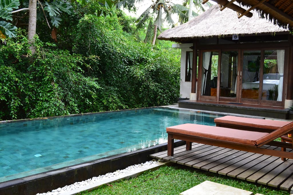 A view of the exterior of Villa Ananda. It's just 3 steps away from the pool.