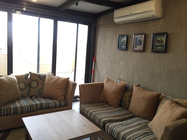 1 bedroom in a roof apt, perfect location - New cairo - Apartment