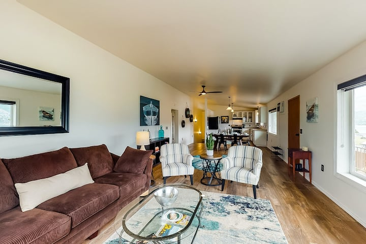 New listing! Dog-friendly home w/ a private hot tub, game room, & views!