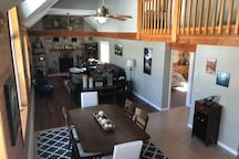 Open floor plan living room and dining area.