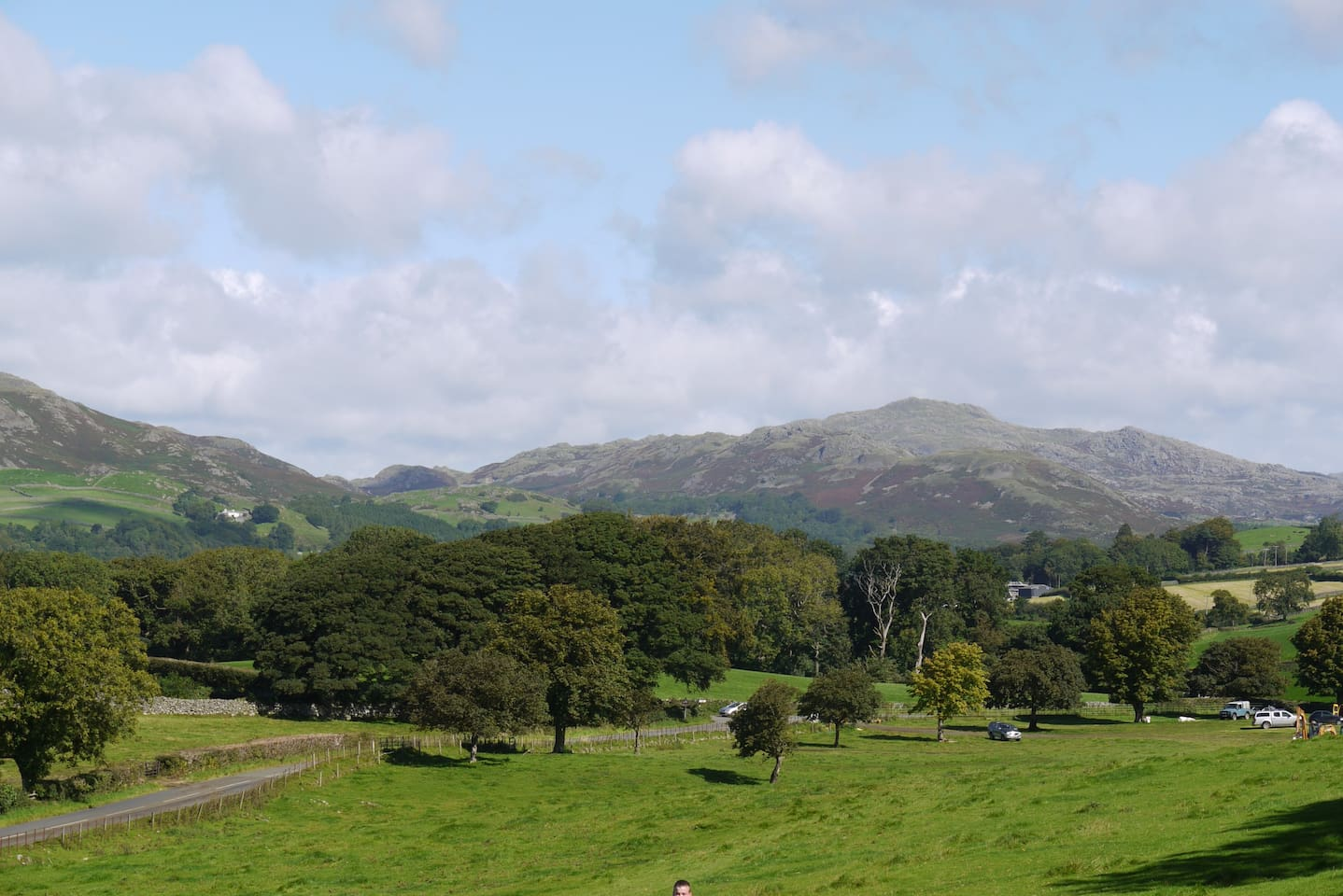 Coniston 'Old Man' and fells, seen from behind home