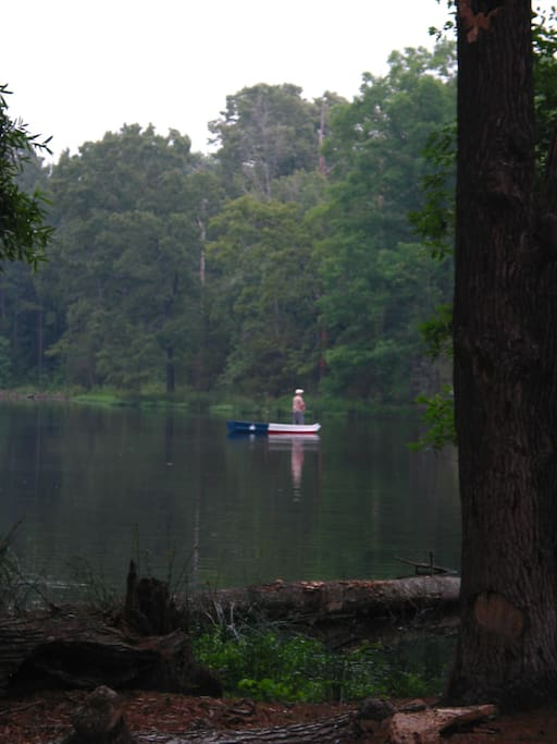 A 4 acre fully stocked pond is right outside the back door.  Boats are available at no extra charge.