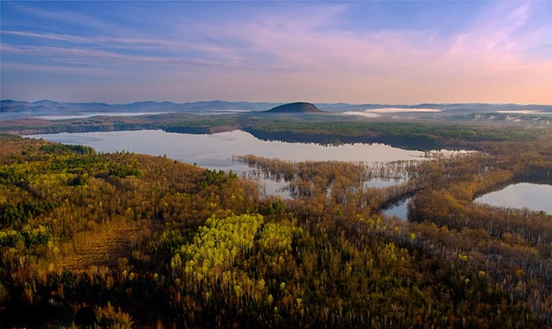 Lovewell Pond, Brownfield/Fryeburg, Mt Tom in the distance-