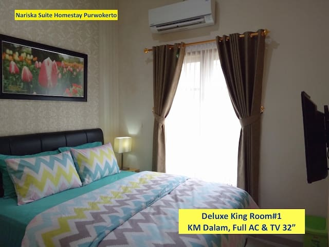 Deluxe King Room#1, Full AC and TV 32""
