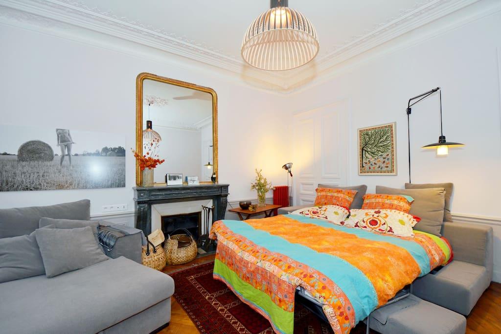 Luxueuse chambre pr s du marais appartements louer for Chambre luxueuse