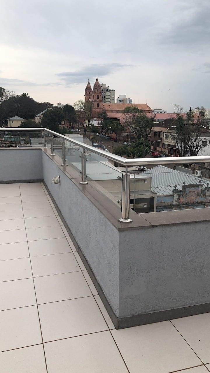 Cobertura Sensacional com vista para Catedral