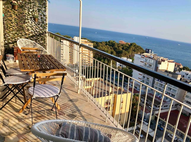 New Sea View Terrace Apartment 300 mtrs beach