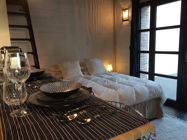 Studio indépendant avec terrasse - Bullion - Apartamento
