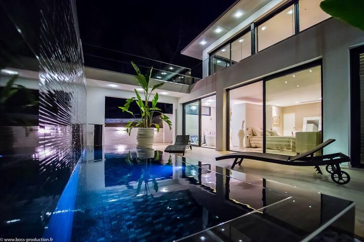 """Chambre """"lagune"""" luxe vue mer avec terrasse"""