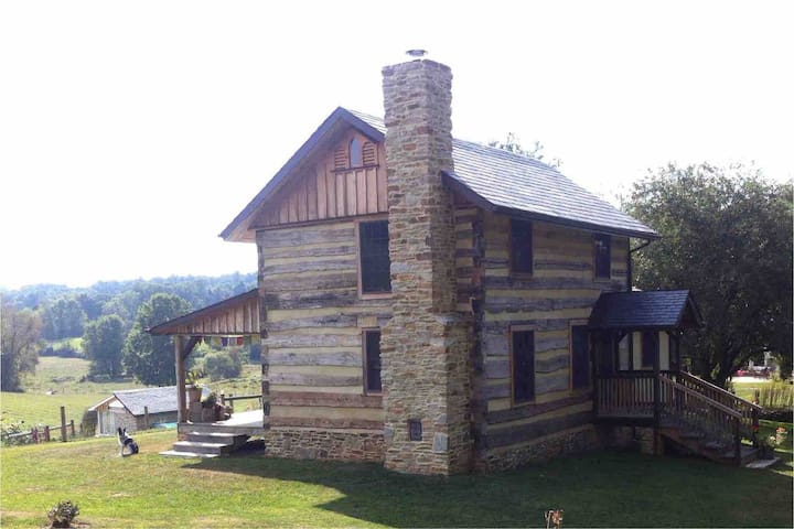 1765 Log Home in a Peaceful Setting