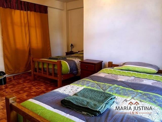Maria Justina Inn 203 private room 2 beds ensuite