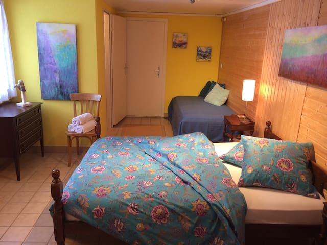 Bright room with ensuite shower in B&B (2-4p). - Vex