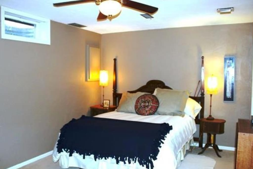 Smaller bedroom on lower level offers comfort & privacy.