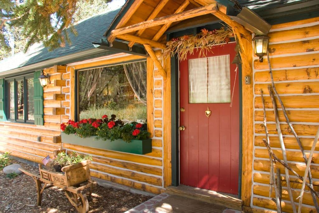 The charming front door