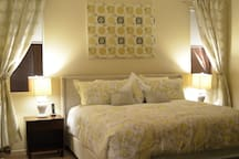 Master Suite with King bed, walk in closet and full private bathroom