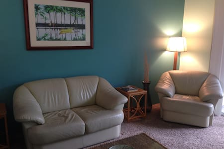 NOVEMBER ONLY 30 DAY RENTAL! Ground floor condo w/ lanai space, almost 800 SF 2 bedrooms/2baths Queen bed, two twins Furnished, turnkey, just bring yourself. Washer/dryer, most appliances needed Wi-fi, cable, land phone pool 2 parking spaces