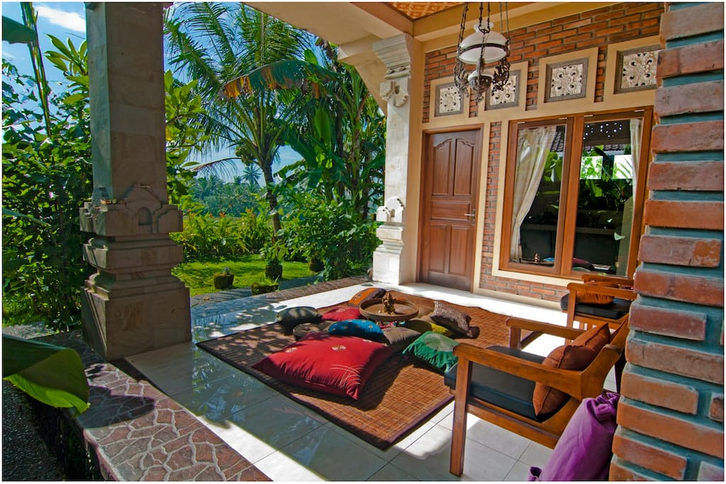 Relax Indian style with plenty of plush pillows