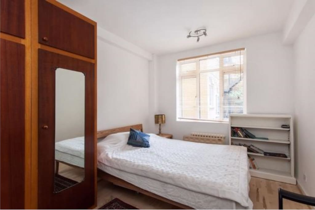 Brand new big double bed with lots of cupboard space