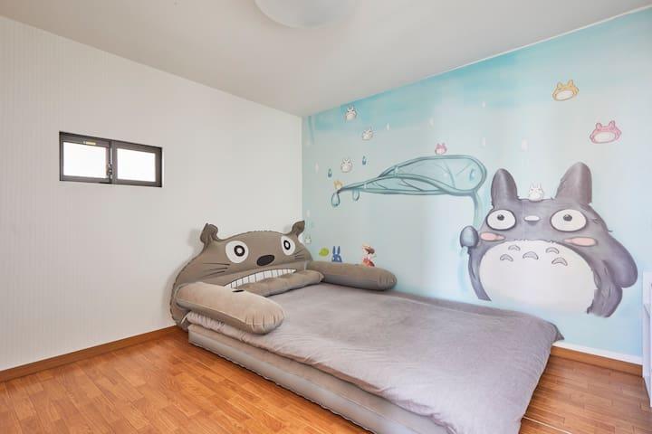 锦丝町R2-龙猫主题房间,二室一厅套房,车站5分钟,交通便利机场直达,超繁华商圈一站式购物 - Sumida-ku - House