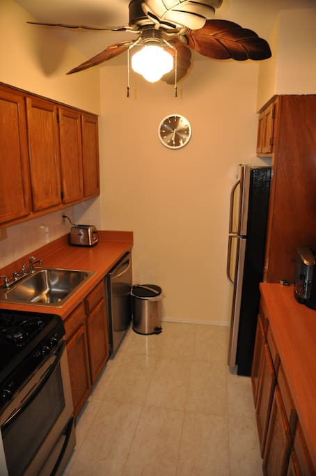 The Kitchen: It is fully equipped and recently remodeled. The style is modern featuring new, stainless steel appliances, cooking utensils, glassware and plates, cutlery, coffee and tea units and an adorable breakfast nook.