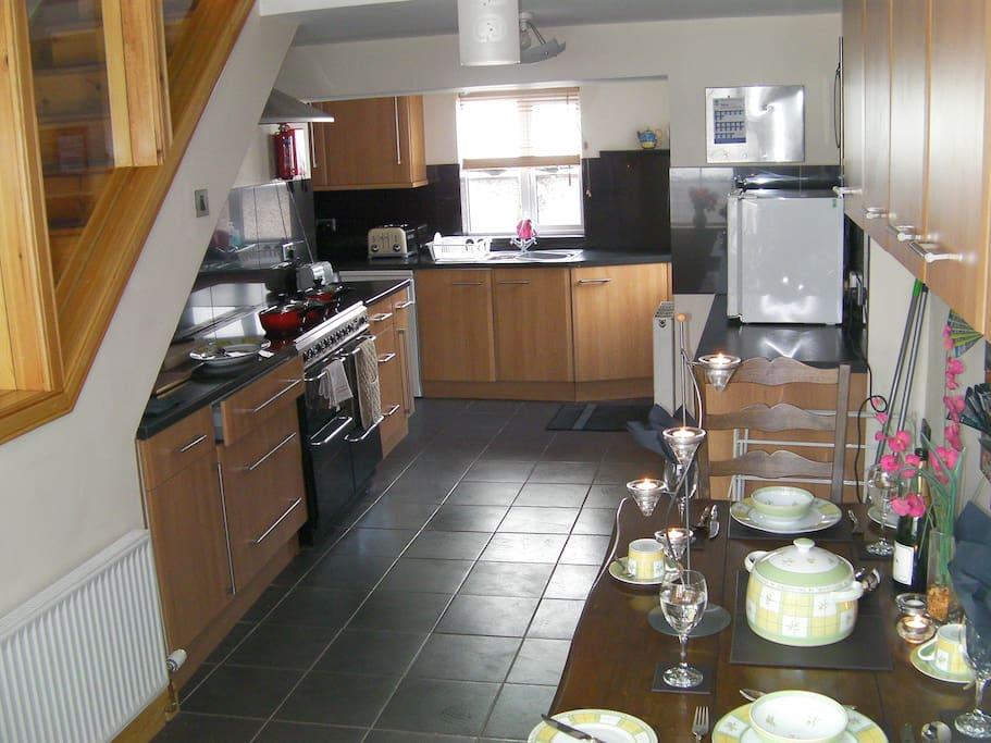 Spacious kitchen/ dining for enjoying the local fresh Scottish produce.