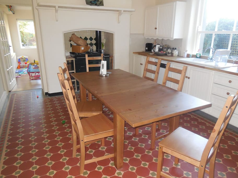 Newly Renovated Kitchen and informal dining room