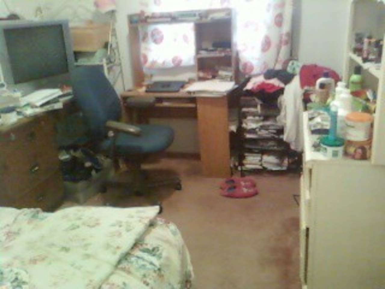 This is my room and I will be staying in my moms room
