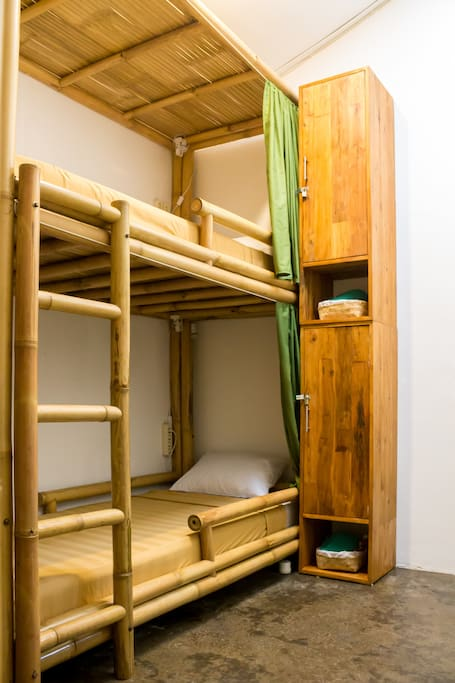 Mixed Dorm with Bamboo style