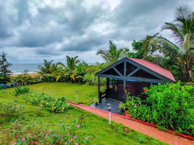 Beachfront Wooden Cottages on Candolim Beach