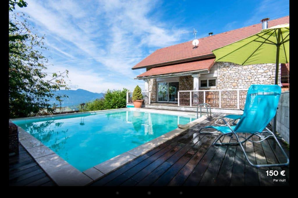 Le balcon de pugny piscine chauff e jacuzzi sauna villas - Hotel aix les bains avec jacuzzi dans la chambre ...