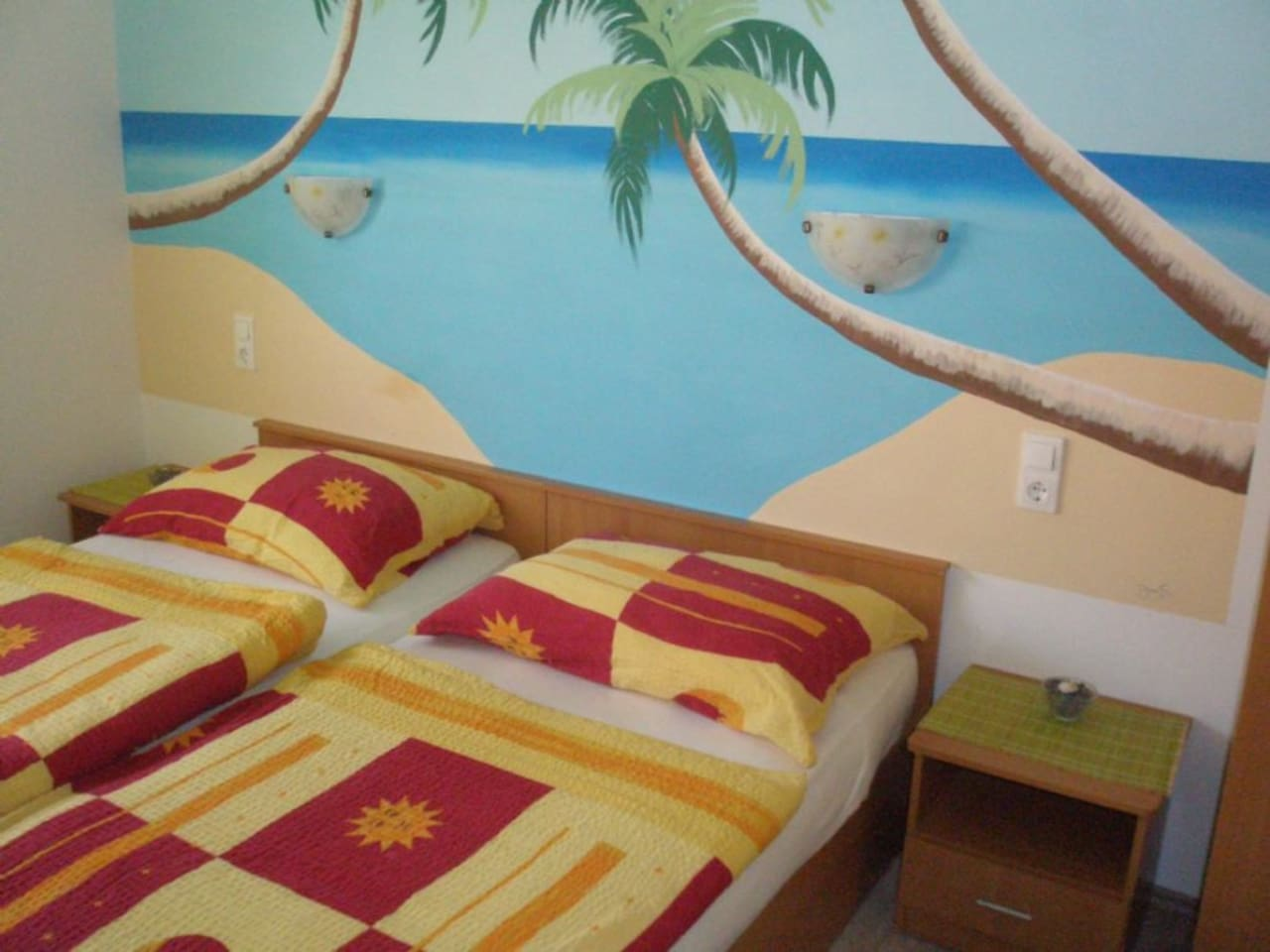 Bedroom1 with comfortable bed and the marine atmosphere