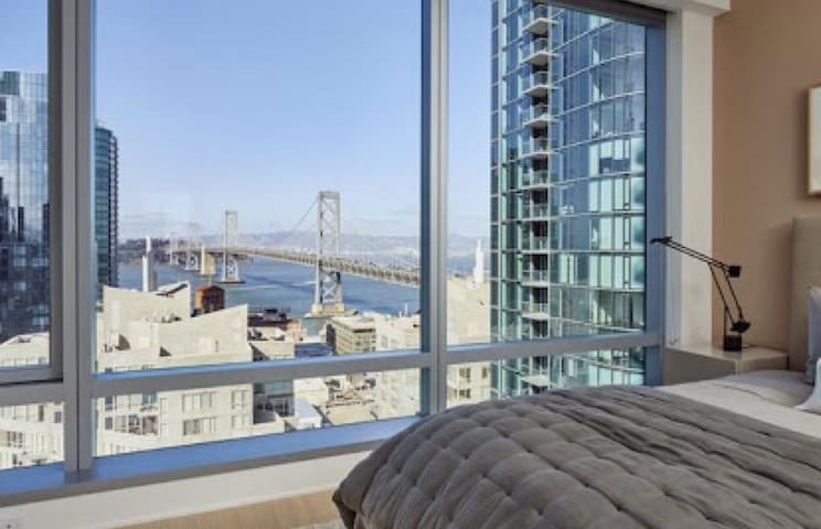 1 LUXURY BEDROOM APT WITH BAY VIEW IN DOWNTOWN SF - San Francisco - Appartement
