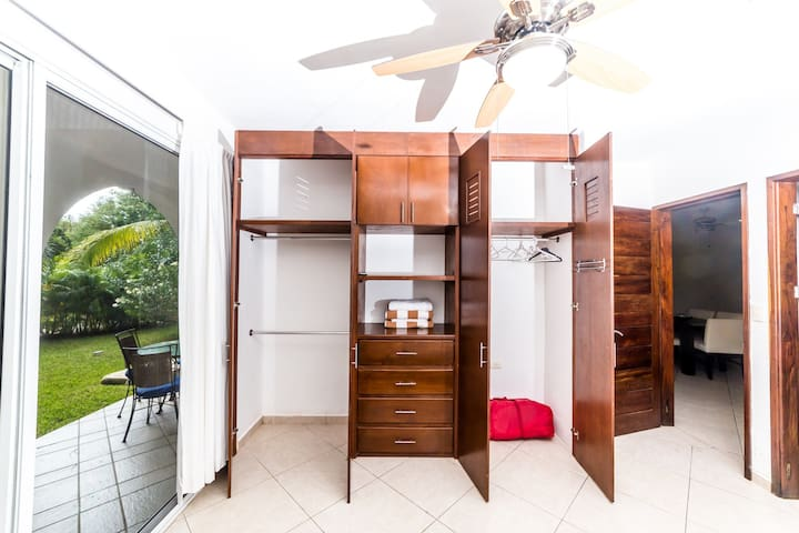 Closets in both bedrooms