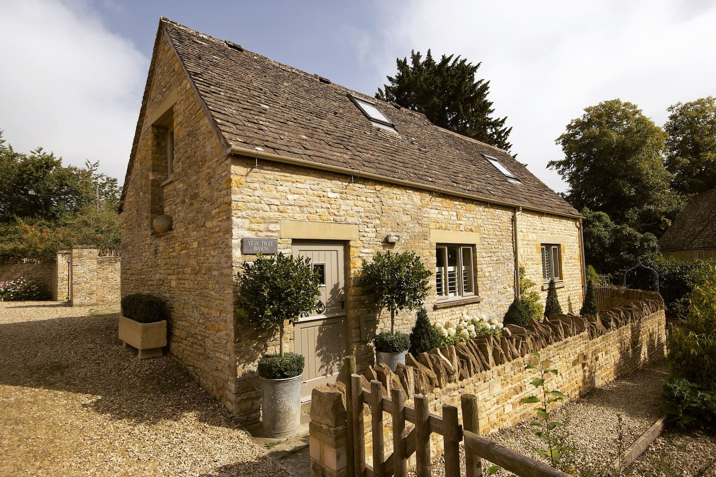 Yew Tree Barn is a Grade II Listed Cotswold Stone Cottage