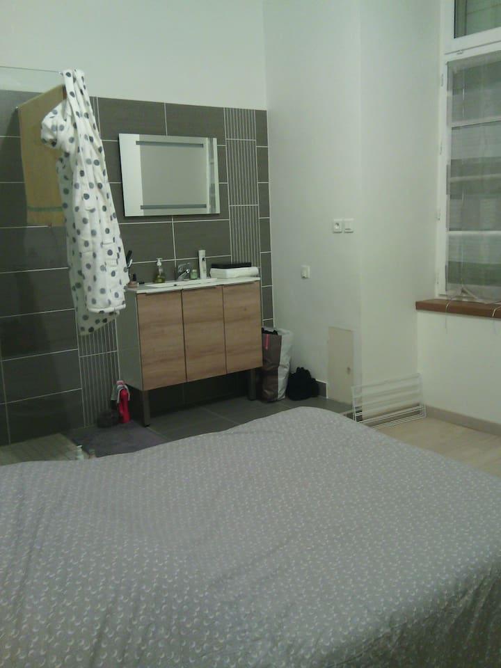 Chambre avec salle d'eau - douche italienne
