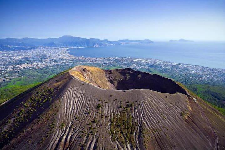 Visit to the crater of Vesuvius
