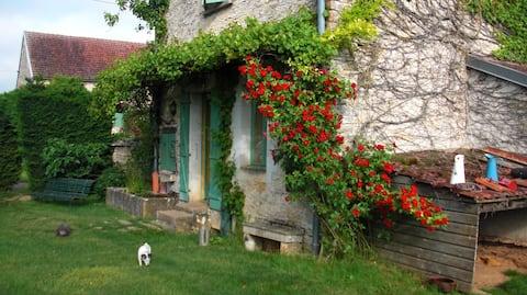 Old charming house. Mauritian women •