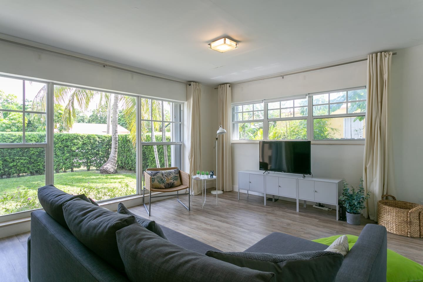 Sit back and relax in the bright, open, and airy Living Room.
