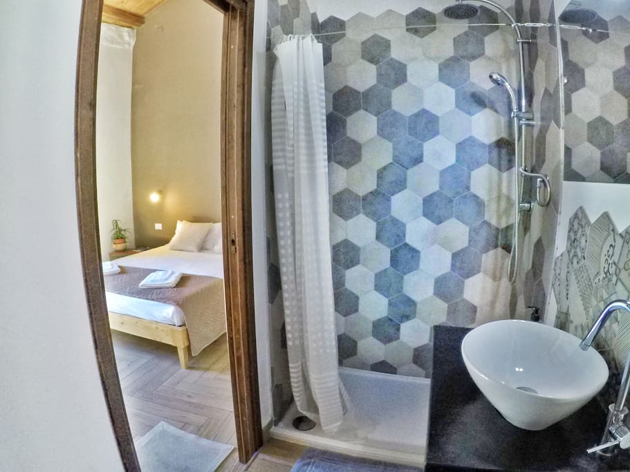 View from the Ensuite Bathroom, with its chic Local Tiles Decor