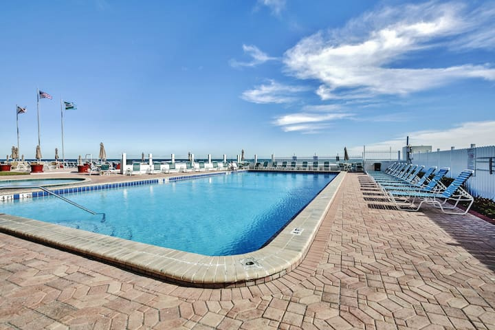 Soak up the balmy Florida sun by the sparkling heated community pool