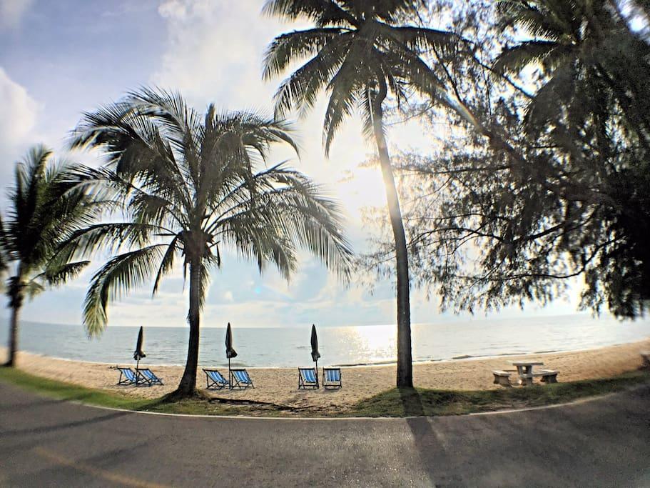 Beach: Just 100m. Walk
