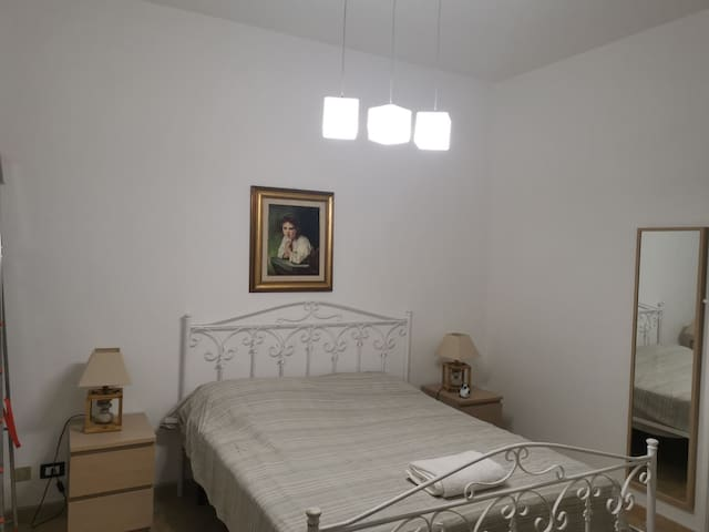 Double bed in bedroom nr.1. This bedroom faces the street