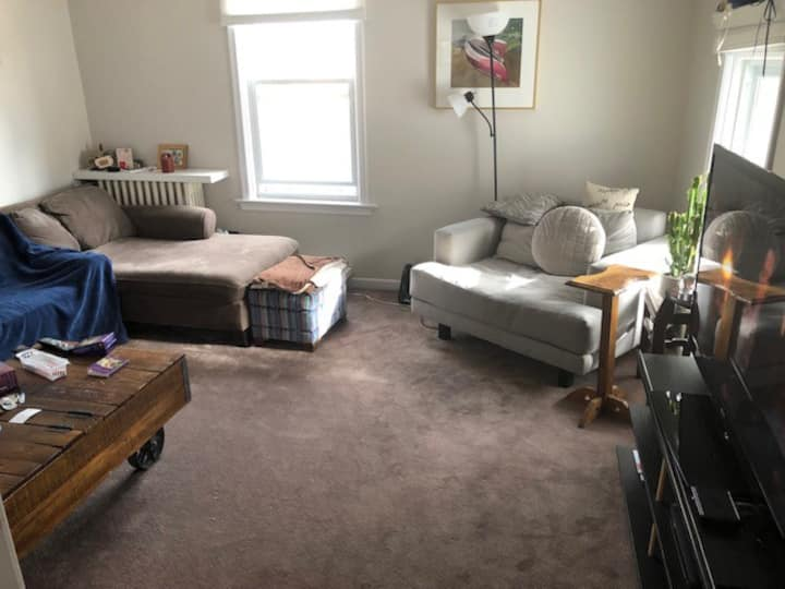 Large apartment with private room near Pearson