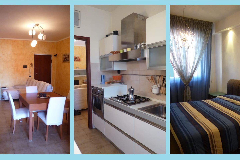 appartamento signorile, 2 camere, sala, cucina, terrazza, balcone e posto auto