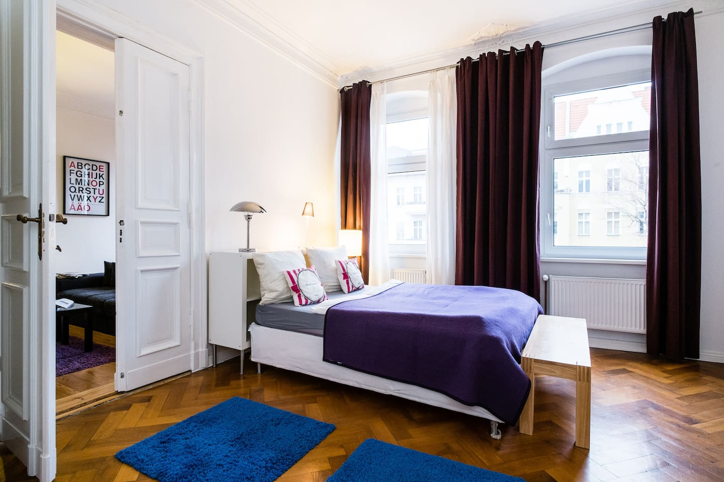 bedroom alfa, which is the master bedroom, sleeps 2 in a queen sized double bed