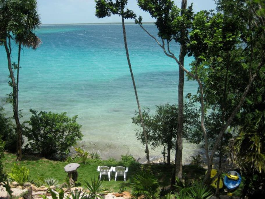 VIEW From Mayacala inside the Villa and looking down at Shoreline